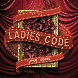 Code 01 Bad Girl - Image: Ladies' Code Bad Girl Album Cover