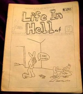 Matt Groening - Cover of Life in Hell No. 4, published in 1978