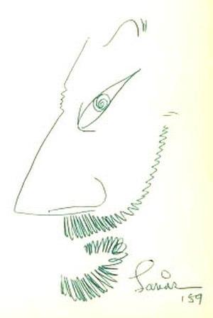 Lawrence Lariar - Lawrence Lariar self-portrait (1959)