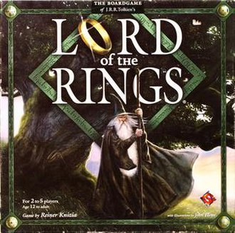 Lord of the Rings (board game) - Image: Lord of the Rings board game cover