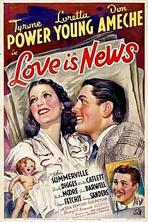 <i>Love Is News</i> 1937 film by Tay Garnett