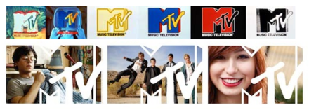 Comparison of MTV's original 1980s branding and its 2010 branding MTV Logo Refresh.png