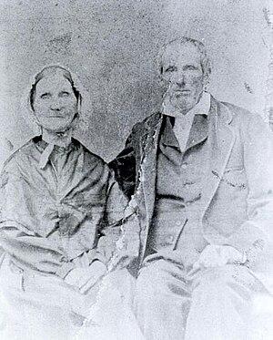 Martin DeFoor - Martin DeFoor (right) with his wife, Susan Tabor DeFoor (left)
