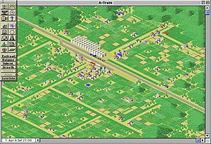 "A-Train - The ""New Town"" scenario in A-Train 1.0 for Macintosh"