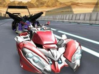 Transformers: Cybertron - Megatron races Override