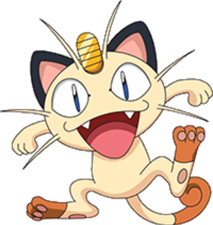 "Koban (coin) - Meowth from the Pokémon series has a koban (referred to in the English dub as a ""charm"") on its forehead.  ""Pay Day"", the signature attack of the species, is known as Neko ni Koban, meaning as above."