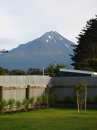 Kaponga - Mount Egmont taken from a residential home in Kaponga