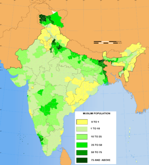 Majority minority - The Muslim population in various parts of India in 2011.