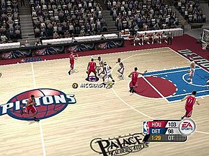 NBA Live 2005 - In-game screenshot of NBA Live 2005 on the PC.