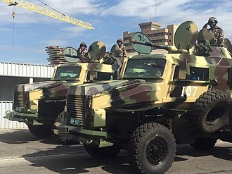 2A28 Grom - Namibian Wer'wolf MKII MRAPs armed with the 2A28 Grom.