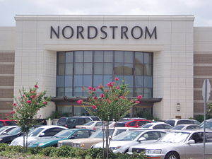 The exterior of a typical Nordstrom department...