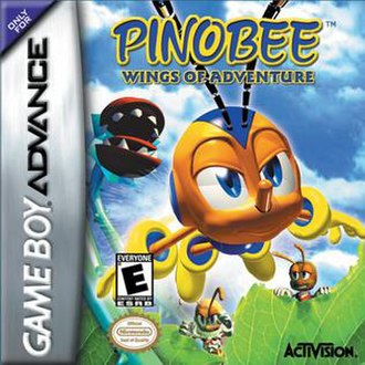 Pinobee: Wings of Adventure - North American GBA cover art