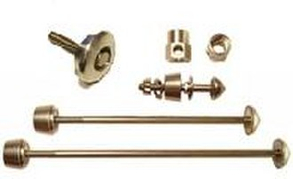 Quick release skewer - Locking skewers use specially-shaped nut/bolt to protect various parts of a bicycle