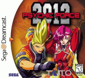 Psychic Force 2012 - North American Dreamcast cover art