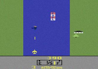 River Raid - Screenshot of the original Atari 2600 version of River Raid