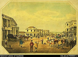 S. T. Gill - Image: S. T. Gill, Rundle Street looking east, Adelaide