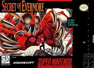 Secret of Evermore - North American box art