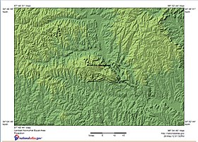 Shaded relief map of Arbuckle Mountains, OK, Topographic-NatAtlas-ArbuckleMts-OK.jpg