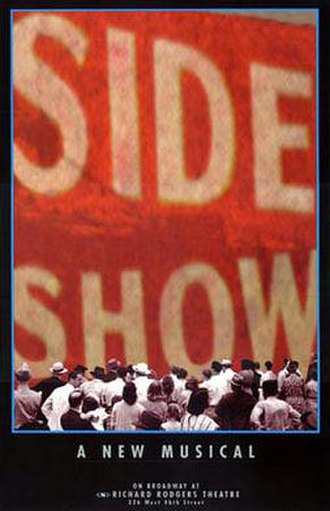 Side Show - Original Broadway theatre poster