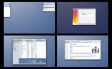 A screenshot of Spaces on Mac OS X 10.5 Leopard