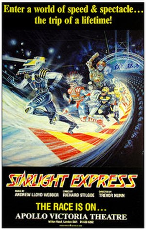 Starlight Express - 1984 London poster