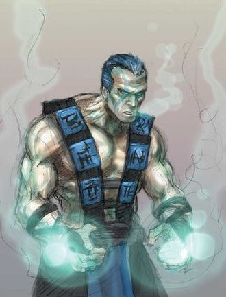 Sub-Zero (Mortal Kombat) - A concept art of the unmasked second Sub-Zero in Deadly Alliance