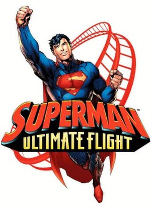 Superman: Ultimate Flight (Six Flags Discovery Kingdom) - Image: Superman Ultimate Flight logo