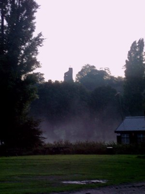 Tutbury Castle at dusk