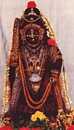 Svayam Bhagavan - The deity of Tulasi Krishna at Udupi. Krishna is the main deity worshipped by the followers of Madhvacharya.