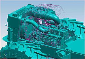Siemens NX - Image: Ugs nx 5 engine airflow simulation