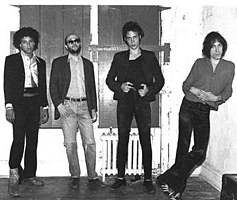 Richard Hell and the Voidoids in 1976. Left to right: Ivan Julian, Robert Quine, Richard Hell and Marc Bell.