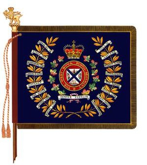 West Nova Scotia Regiment - The regimental colour of the West Nova Scotia Regiment.