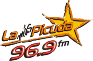 XHNS-FM - Image: XHNS La Mas Picuda 96.9 logo