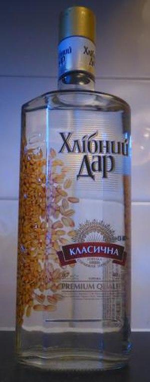 Khlibnyi Dar - A 700 ml bottle of Хлібний Дар