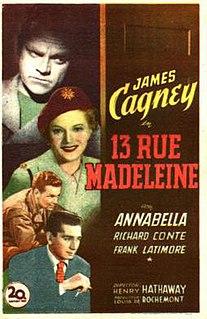 <i>13 Rue Madeleine</i> 1947 film by Henry Hathaway