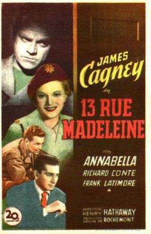 13 Rue Madeleine - Film Poster