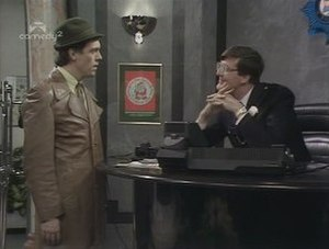 A Bit of Fry & Laurie - A scene from one of the many sketches in the show, entitled The Privatisation of the Police Force