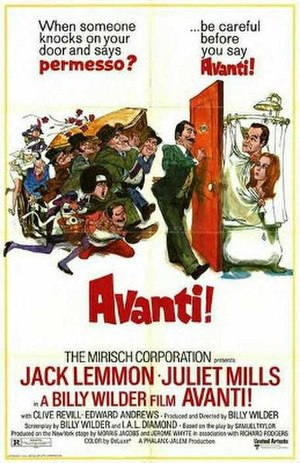 Avanti! - Original film poster by Sandy Kossin