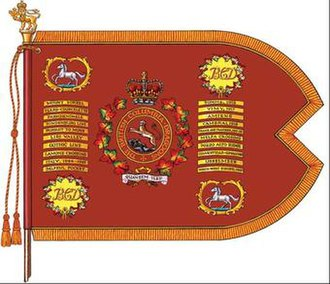 The British Columbia Dragoons - The guidon of The British Columbia Dragoons.