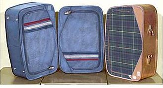 Beth Doe - Reconstructions of the three suitcases in which Beth Doe was found.