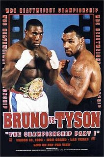 Frank Bruno vs. Mike Tyson II Boxing competition