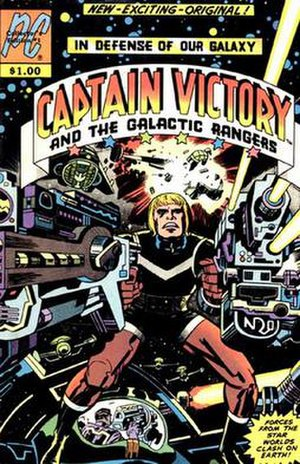 Captain Victory and the Galactic Rangers - Cover of the first issue