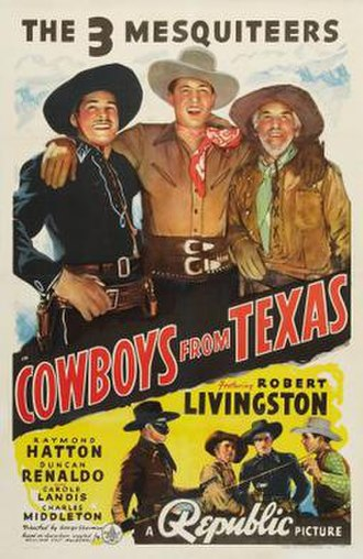 Cowboys from Texas - Image: Cowboys from Texas Film Poster