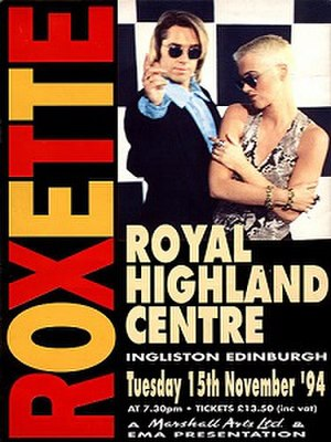Crash! Boom! Bang! Tour - Promotional poster for 15 November 1994 concert at the (now-titled) Royal Highland Showground