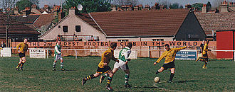 Cray Wanderers F.C. - Cray Wanderers at Oxford Road in 1997.