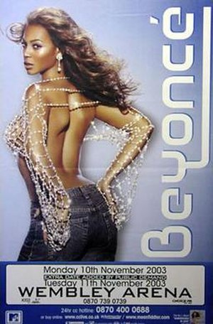 Dangerously in Love Tour - Poster of the tour in London