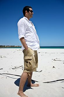 Danish Aslam at Pringle Bay beach, South Africa.jpg
