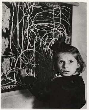 David Seymour (photographer) - A Disturbed Child in a Warsaw Orphanage, 1948, by Chim. Identified as Teresa Adwentowska, per Tel Aviv University exhibit