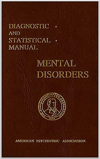 <i>Diagnostic and Statistical Manual of Mental Disorders</i> American psychiatric classification and diagnostic guide