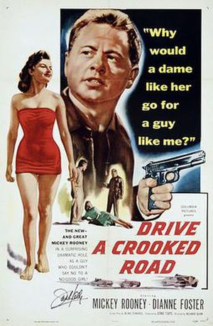 Drive a Crooked Road - Theatrical release poster